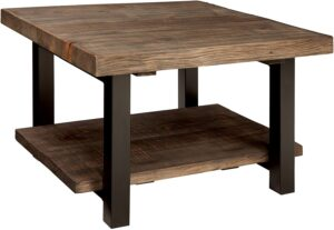 Alaterre AZMBA1320 Sonoma Rustic Coffee Table for Sectional with chaise