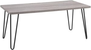 Ameriwood Home Owen Retro Coffee Table with Metal Legs