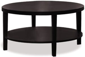 Ave Six Merge Round Coffee Table, 36-Inch, Espresso