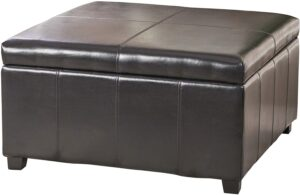 Christopher Knight Home Leather Ottoman Coffee Table