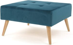 Christopher Knight Home Omry Velvet Ottoman