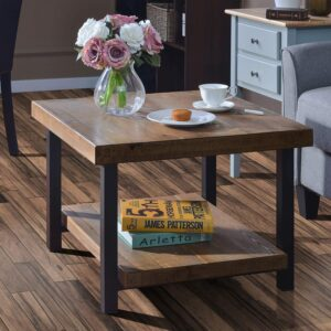 Coffee Table Easy Assembly Rustic Natural End Table