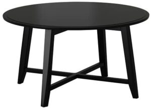 IKEA Coffee Table, Black, Round Shape