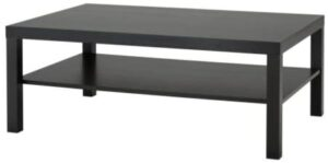 IKEA Coffee table, black-brown