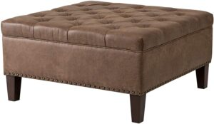 Madison Park Lindsey Square Tufted Large Faux Leather