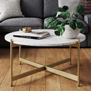Nathan James Piper Faux Marble Coffee Table