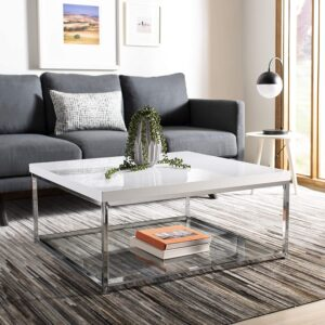 Safavieh Home Malone Glam Square Glass Top Coffee Table