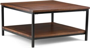 Simpli Home 3AXCSKY-02 Square Modern Industrial Coffee Table