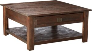 Simpli Home AXCMON-02 Square Rustic Coffee Table