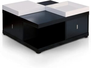 ioHOMES Morgan Contemporary Storage Coffee Table
